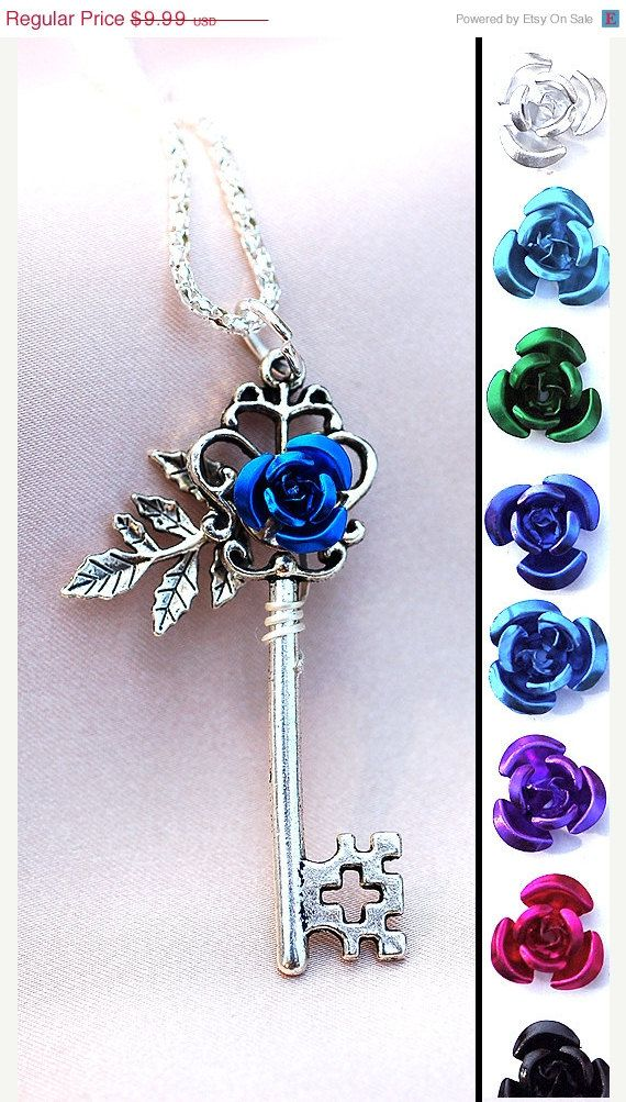SALE  My Rose Key Necklace by KeypersCove on Etsy, $8.99 (I love every key in this shop)