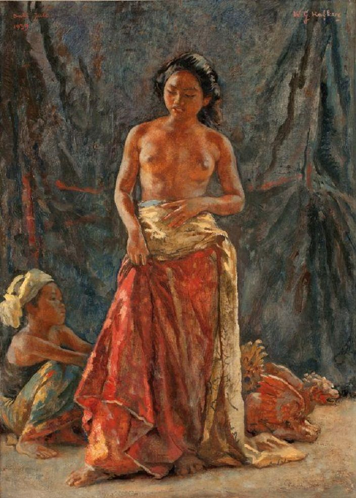Hofker, Willem Gerard - A Balinese woman and child