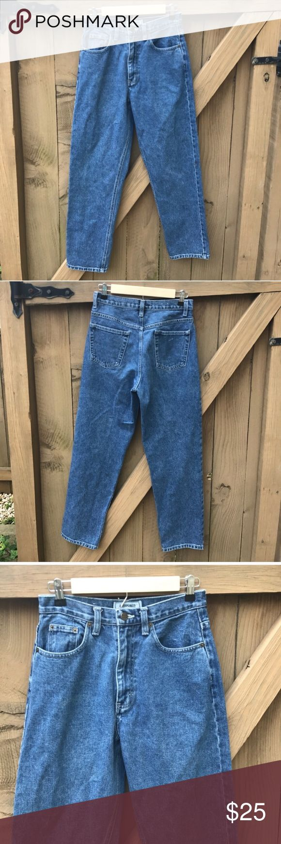 Passports size 6 high waisted mom jeans Passports size 6 high waisted mom jeans: 14 in across waist, 16.5 in across hip, 28 in inseam: location- bin 10 Passport Jeans Straight Leg