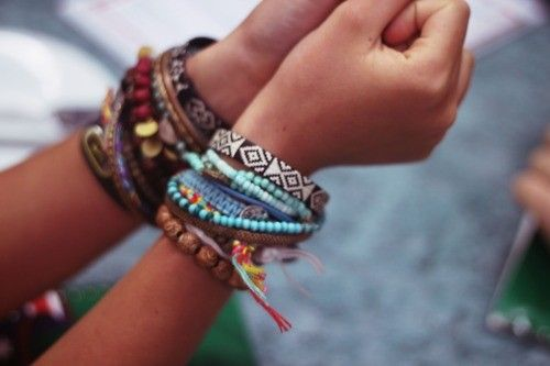 bracelets and tan. classic combination.