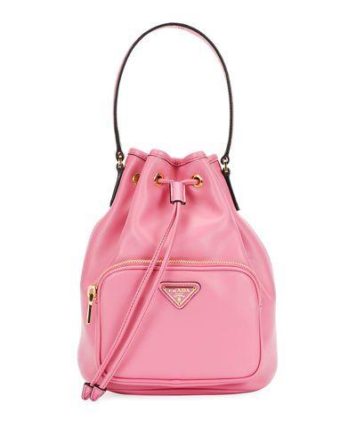 a508f4c178f687 V41UF Prada Leather Bucket Bag Interior Logo, Prada Handbags, Leather  Handbags, Bucket Bag