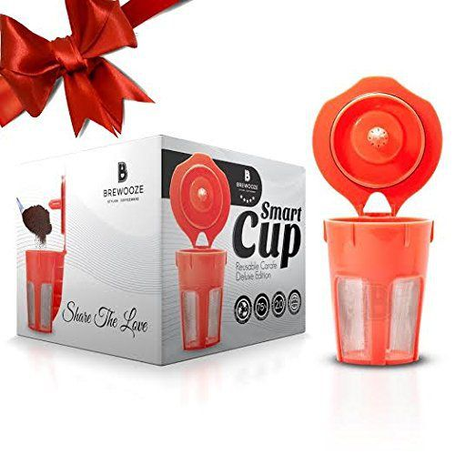 Brewooze® Keurig Carafe Kcup - Reusable, Refillable K Cup - Carafe Keurig Coffee Filter Crafted for K500, K400, K300 and K200 Models - http://teacoffeestore.com/brewooze-keurig-carafe-kcup-reusable-refillable-k-cup-carafe-keurig-coffee-filter-crafted-for-k500-k400-k300-and-k200-models/