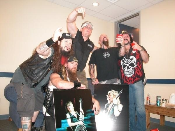 Dimebag Darrell, Zakk Wilde, Kerry king and Vinnie Paul - 2004