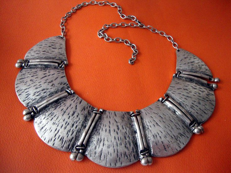 Modern Oxidized Style Custom Jewelry Pewter Necklace Adjustable Length 40 - 50 cm by SilveradoJewellery on Etsy