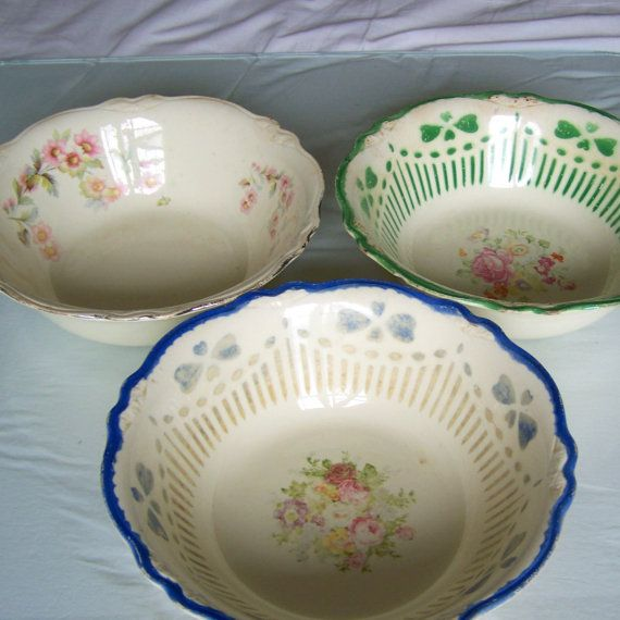 Vintage Homer Laughlin Bowls by blurredvisionary on Etsy, $18.00