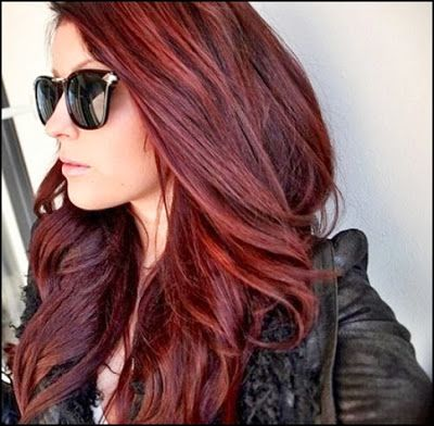 Dark red brown hair.Perfect hair coloring tips for temporary hair dyes at home with streaking kits.Editors discuss hair highlighting kits with hair dry stains.