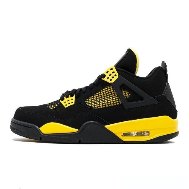 2019 men basketball shoes retro 4 thunder pure money bred