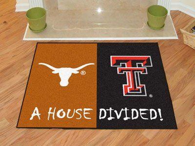 "Texas-Texas Tech House Divided Rugs 33.75""x42.5"""
