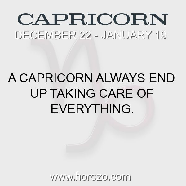 Fact about Capricorn: A Capricorn always end up taking care of everything. #capricorn, #capricornfact, #zodiac. More info here: https://www.horozo.com/blog/a-capricorn-always-end-up-taking-care-of-everything/ Astrology dating site: https://www.horozo.com