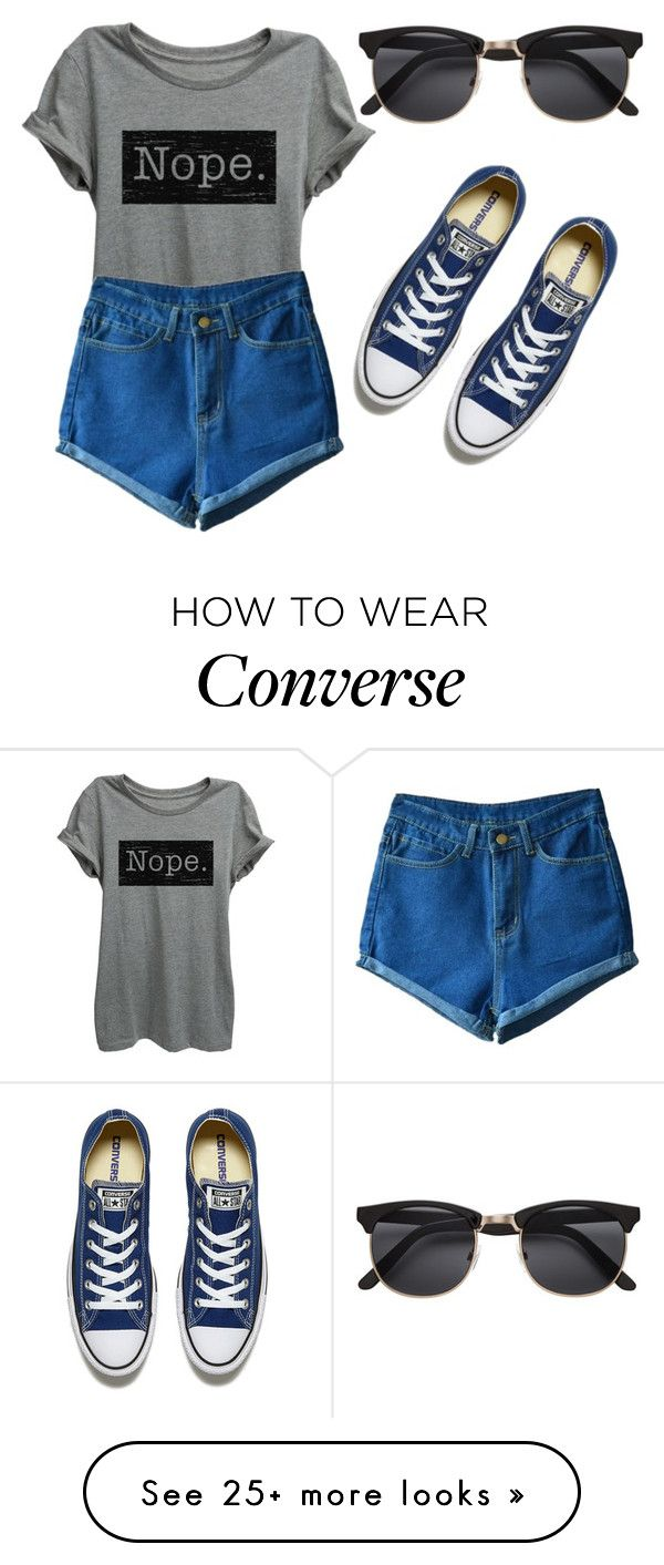 """#242"" by mahira-muminovic on Polyvore featuring Converse"