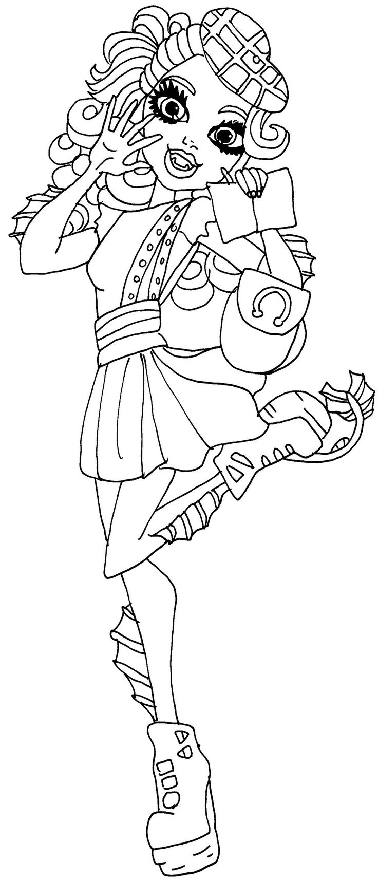 monster high coloring pages lorna mcnessie google search - Monster High Chibi Coloring Pages