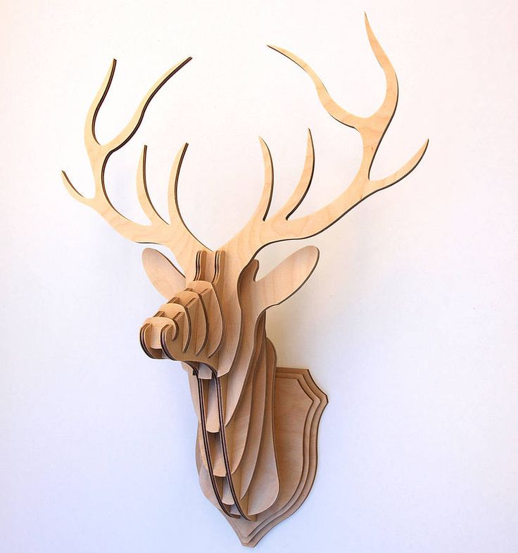 WOODEN STAG HEAD, NOTONTHEHIGHSTREET- am I being insane or is this actually quite tasteful?