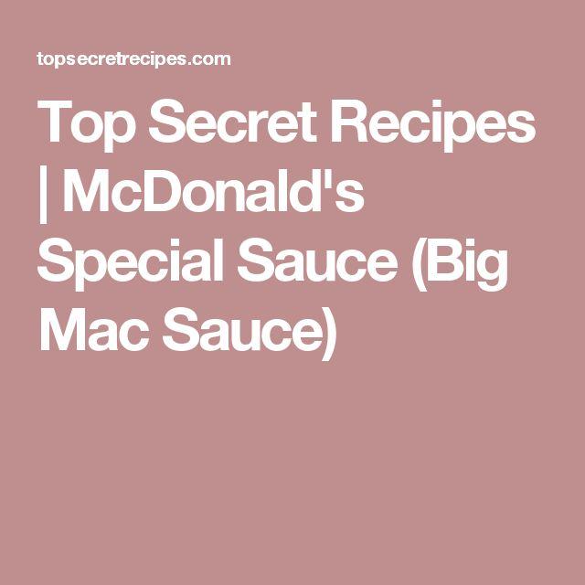 Top Secret Recipes | McDonald's Special Sauce (Big Mac Sauce)
