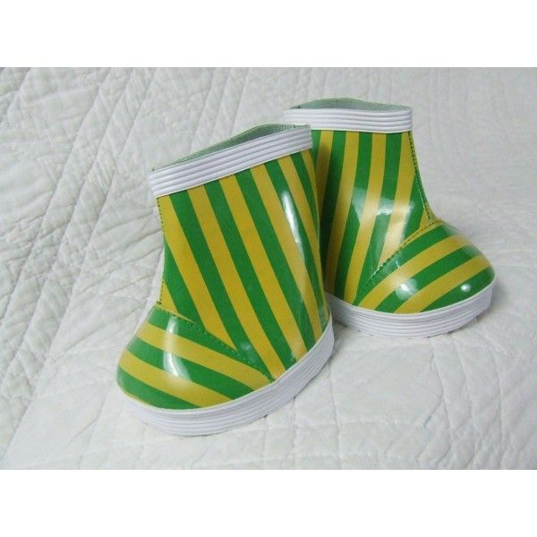 Green & Yellow Rubber Wellington Boots
