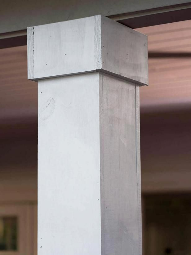 How To Re Cover Metal Columns In Wood Metal Columns Wood Columns Porch Wood Columns