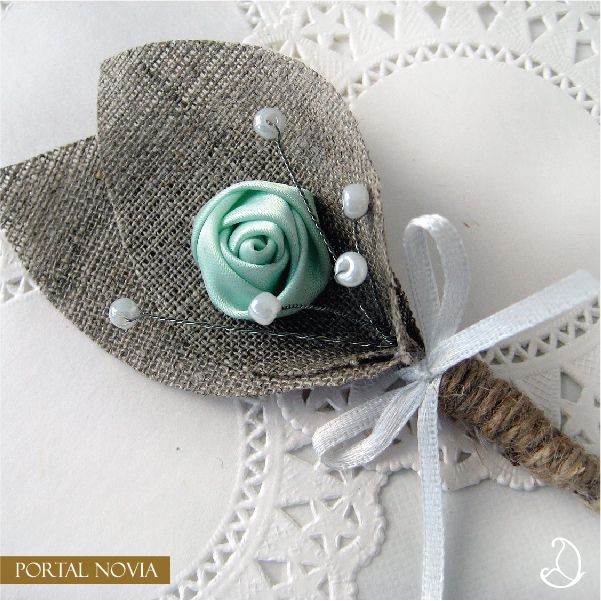 #bodas #menta #mint #boutonniere
