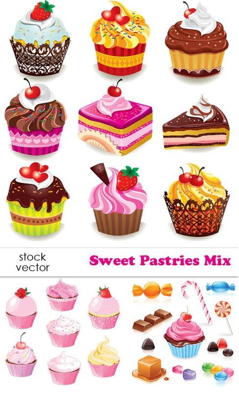 Vectors - Sweet Pastries Mix