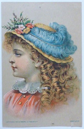 Victorian Trade Card Singer Sewing Machines Copyrighted 1879Sewing Machine
