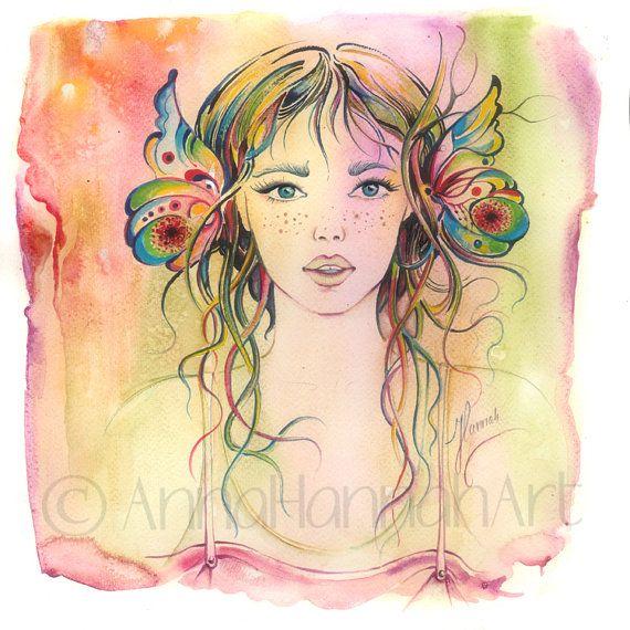 """Gardener Girl"" - watercolour"