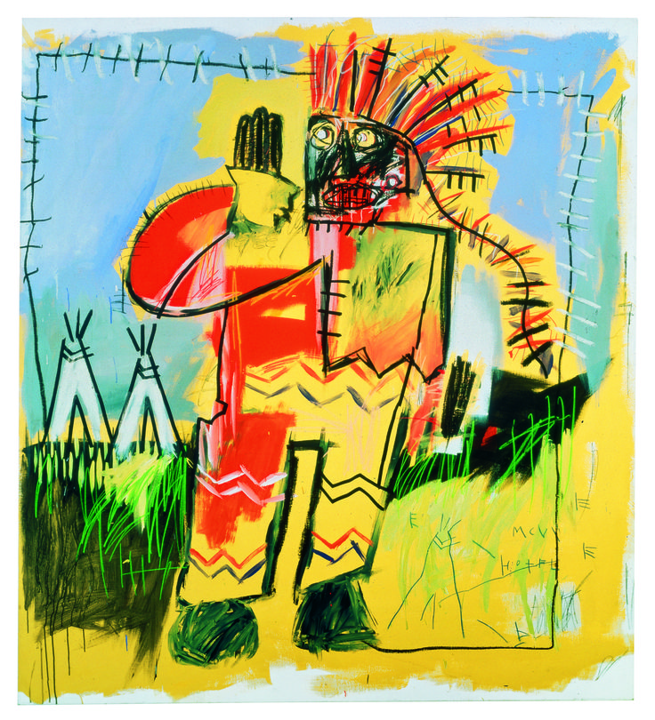 <strong>Tobacco Versus Red Chief by Jean-Michel Basquiat, 1981-82. Oil and oil stick on canvas (UBS)</strong><br>  With over 35,000 works of art, the UBS collection includes a wide range of contemporary pieces, from new emerging talent to some of the most important artists of the last 50 years. Tobacco Versus Red Chief is one of Jean Michel-Basquiat's early works. The Brooklyn-born artist started attracting attention in the late 1970s with graffities signed under the pseudonym SAMO. Tobacco…