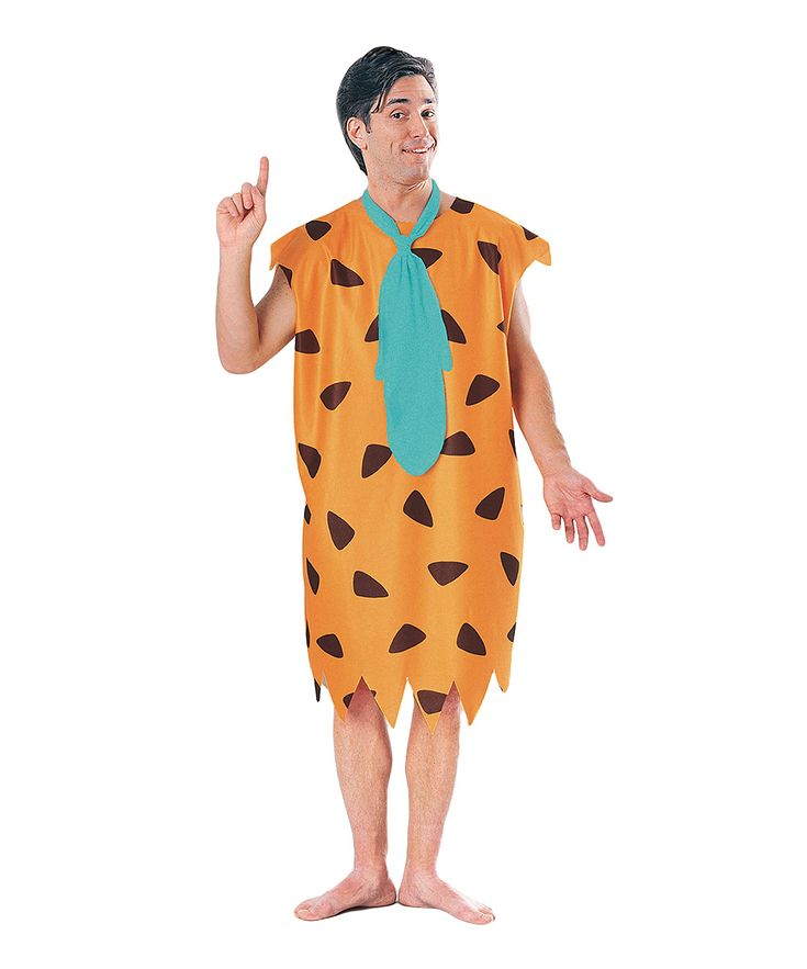 Orange Fred Flintstone Costume - Adult