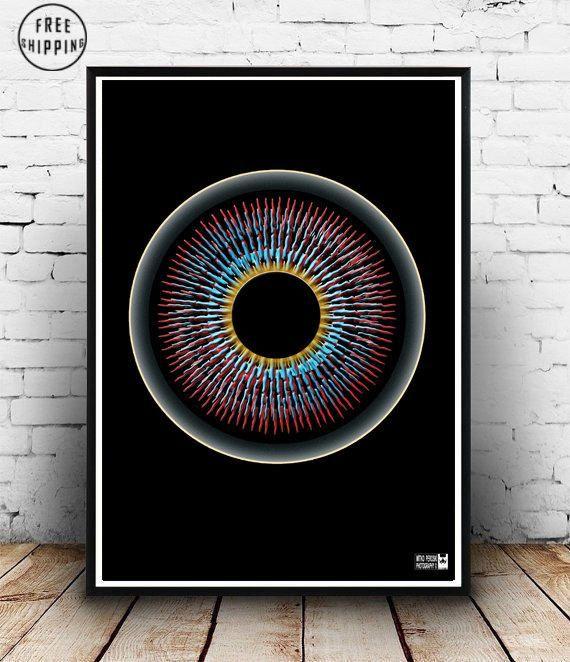 Shine On You Crazy Diamond Psychedelic Art Print Wall Art Print