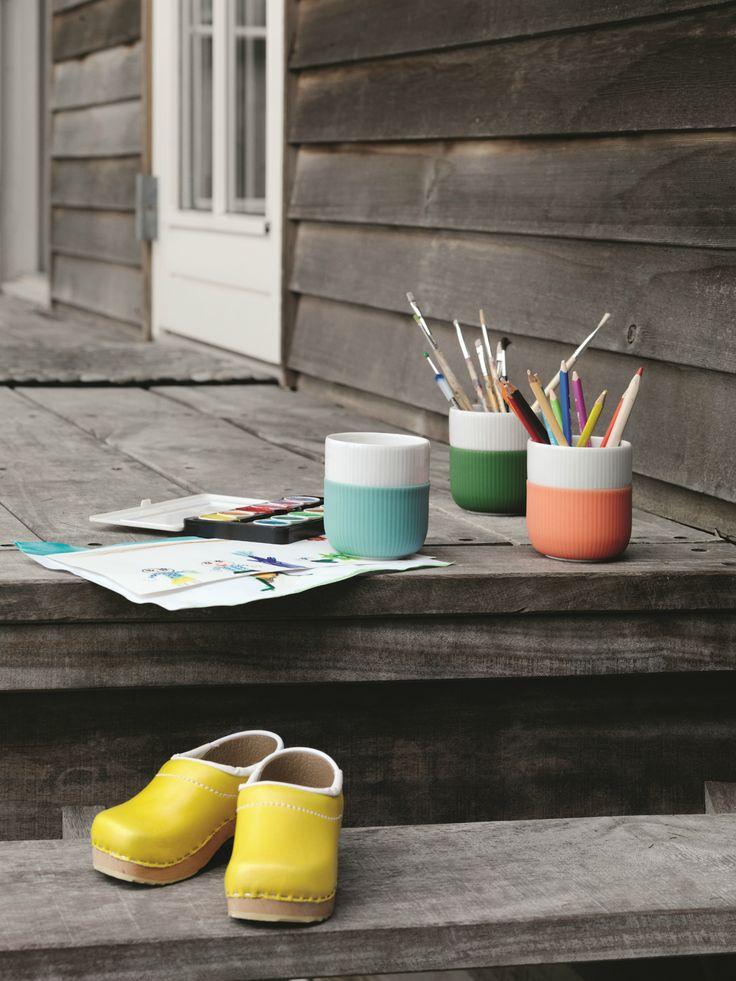 Use the Royal Copenhagen Contrast Mugs outside as well as inside