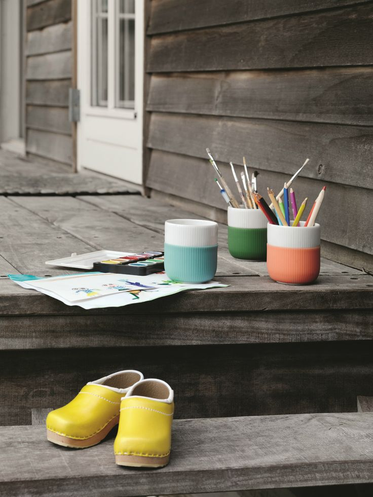 Use the Royal Copenhagen Contrast Mugs outside as well as inside