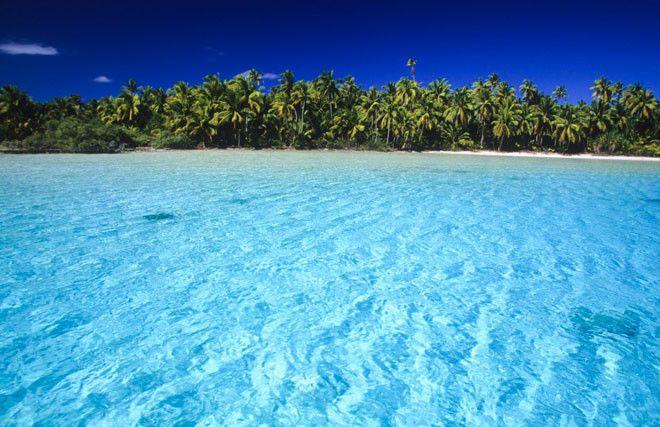 Las islas de Tahití, en la Polinesa Frances, también cuenta con su Laguna Azul.