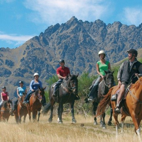 "Take a scenic horse trek through Walter Peak High Country Farm. Getting there you'll travel on the ""lady of the lake"" the TSS Earnslaw steamship and then meet up with the horse trek for a spectacular tour of the farm. #UltimateQueenstown"