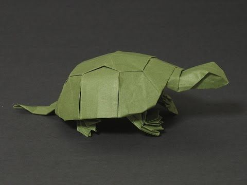 Origami How to make origami turtle. Paper tortoise for beginners - YouTube