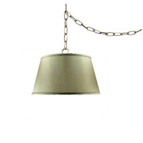 New Tan Swag Lamp Lighting Fixture Hanging Plug In Lamp By Http