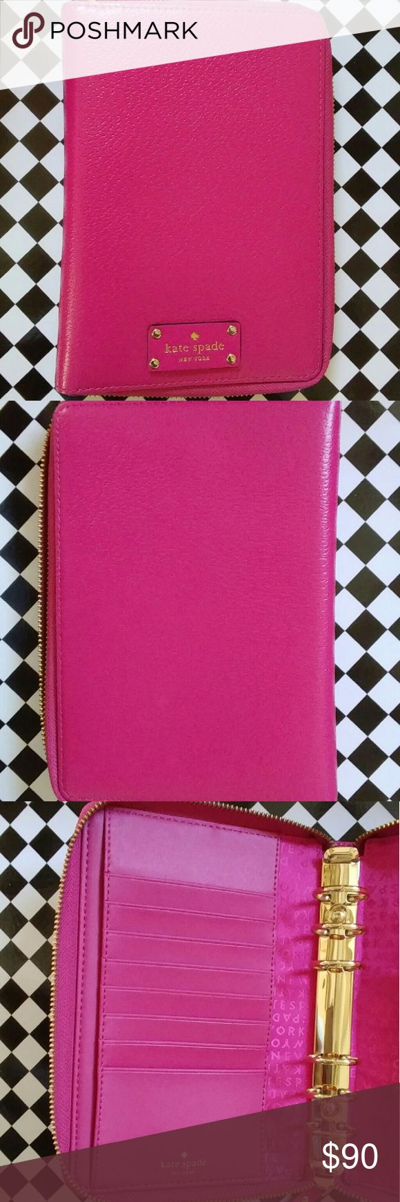 Kate Spade Wellesley planner (Re-Posh) This is New and is in excellent condition. I purchased a bigger planner so I no longer need this one. It is gorgeous. *Purchased without inserts. **Purchase will include 1 gold Kate Spade pen * kate spade Other