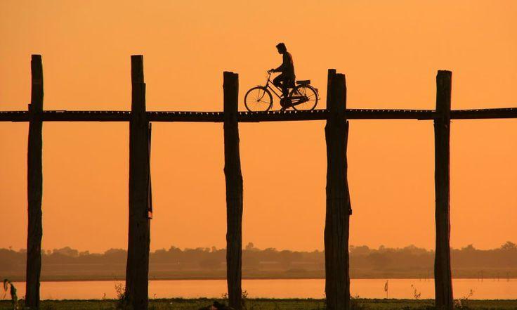 Bridge cyclist, Myanmar - TripADeal