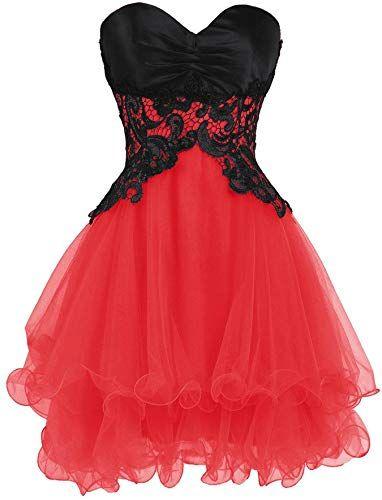 Desfrute exclusivo de Ellames Sweetheart Bridesmaid Short Prom Homecoming Party Dresses Juniors on-line   – Abendroben