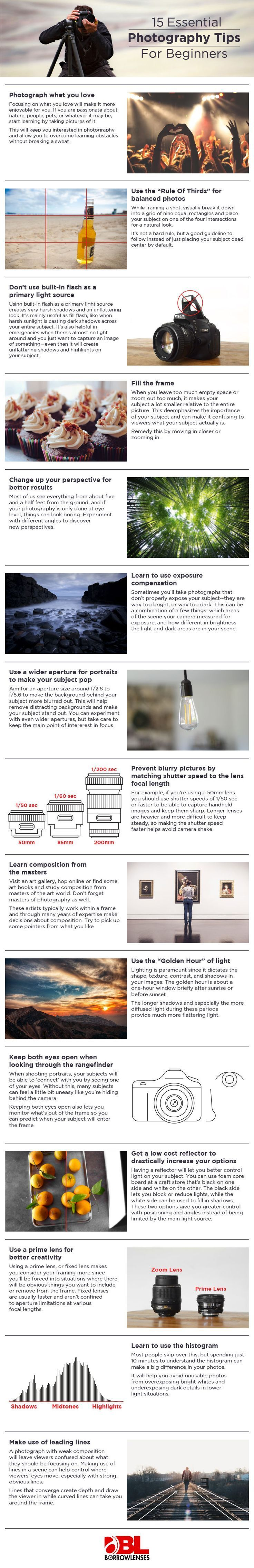 15 ESSENTIAL PHOTOGRAPHY TIPS #photography #phototips http://www.picturecorrect.com/tips/15-essential-photography-tips/