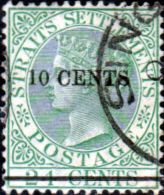 Straits Settlements 1891 Queen Victoria Surcharged SG 86 Fine Fine Used Scott 75 Other Malay Straits Stamps HERE