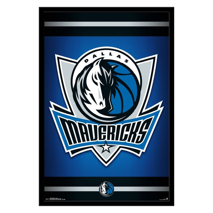 Trends International Dallas Mavericks Logo Framed Wall Poster - FR13762BLK22X34