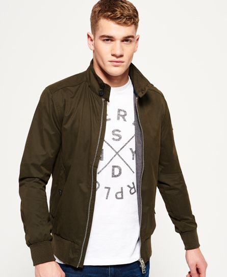 Superdry Nordic Harrington Jacket Green