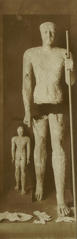Statues of King Pepi I and Son from Hierakonpolis ( Old Kingdom - Dynasty VI)