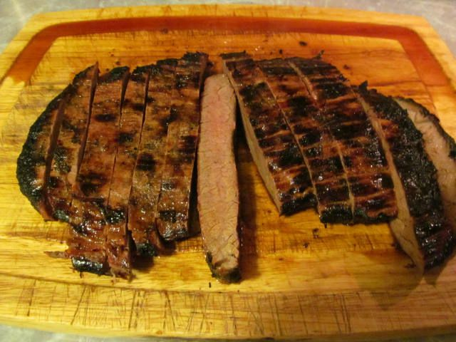 Grilled Flank Steak with Orange-Ginger Marinade