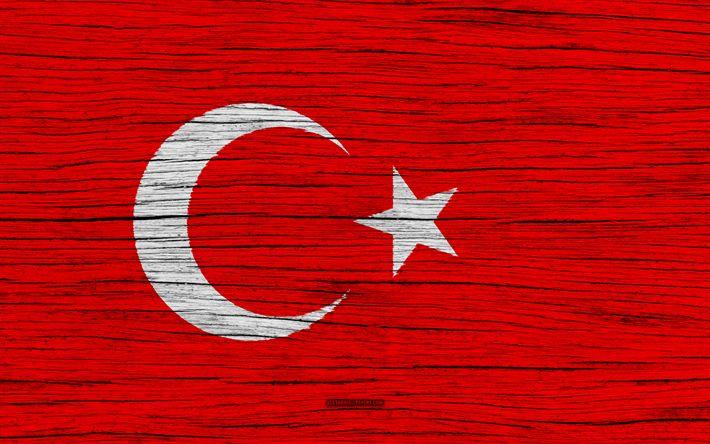 Download wallpapers Flag of Turkey, 4k, Asia, wooden texture, Turkish flag, national symbols, Turkey flag, art, Turkey