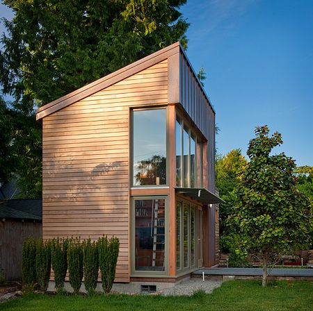 Copper clad detached studio could easily be converted to for Amazing house music