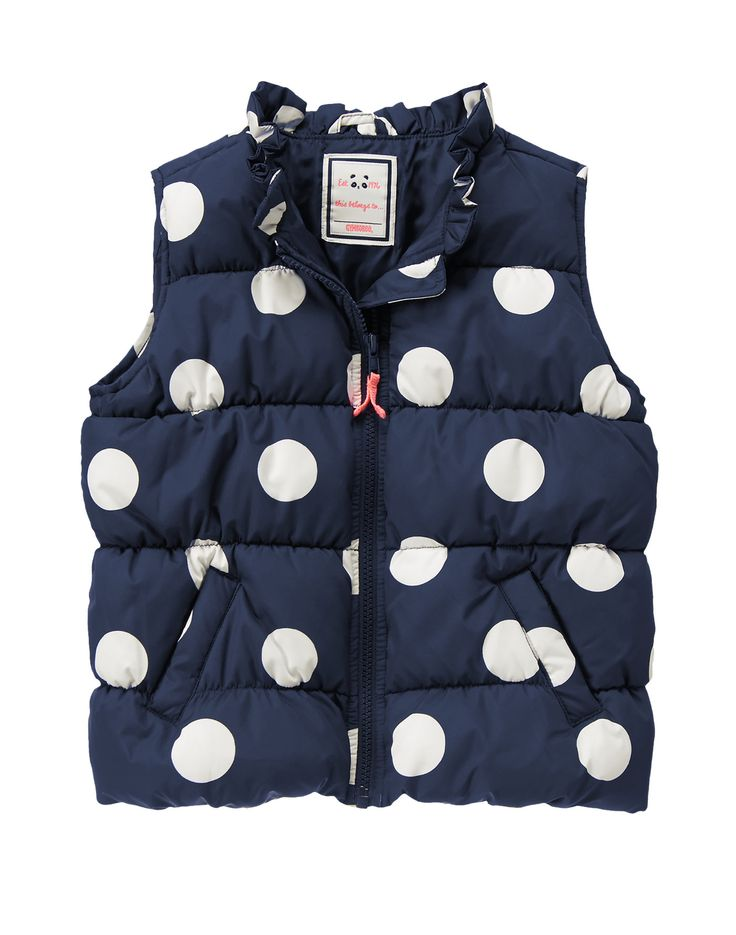 Mini Style for Less: Tea Collection & Gymboree Sales | Quilted Polka Dot Vest $13