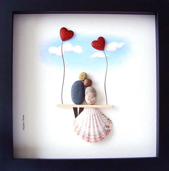 Am besten Sie Hochzeit Geschenk - Pebble Art - Gift für ihn und Her-Valentinstag Geschenk - Braut und Bräutigam Geschenk - einzigartige Engagement Geschenk - einzigartige Hochzeit Geschenk - Paare Geschenk - Liebe Geschenke ●●---Pebble Art zu feiern und schätzen den besonderen Anlass; ein