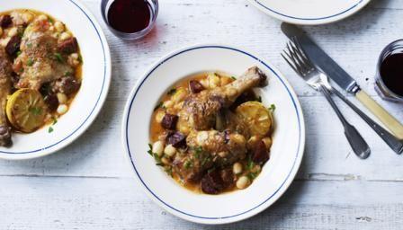 Chicken with Chorizo & Haricot beans
