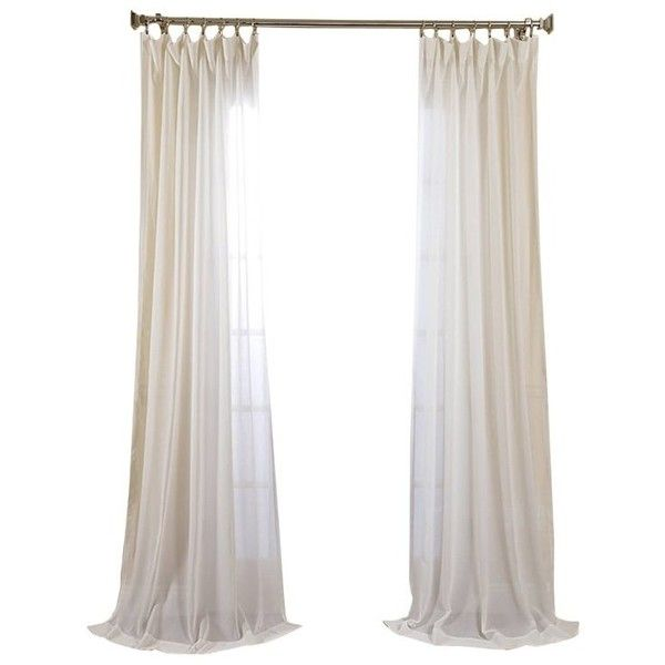 Middleton Solid Sheer Single Curtain Panel ($26) ❤ liked on Polyvore featuring home, home decor, window treatments, curtains, sheer curtain panels, sheer drapery panels, sheer curtains, sheer window coverings and sheer draperies