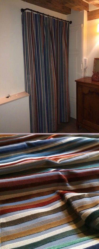 Rideau porte exterieur trendy rideau de porte chenille bicolore largeur cm x longueur cm gris - Rideau d exterieur ...