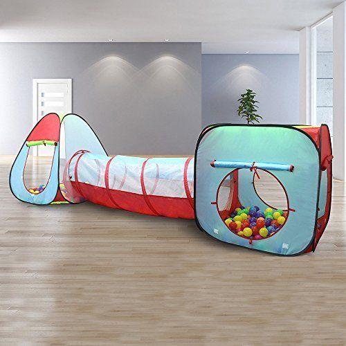 Playhouse Kids Children Play Tent Tunnel 3 Piece Set Indoor Outdoor Boys Girls  #Kiddey