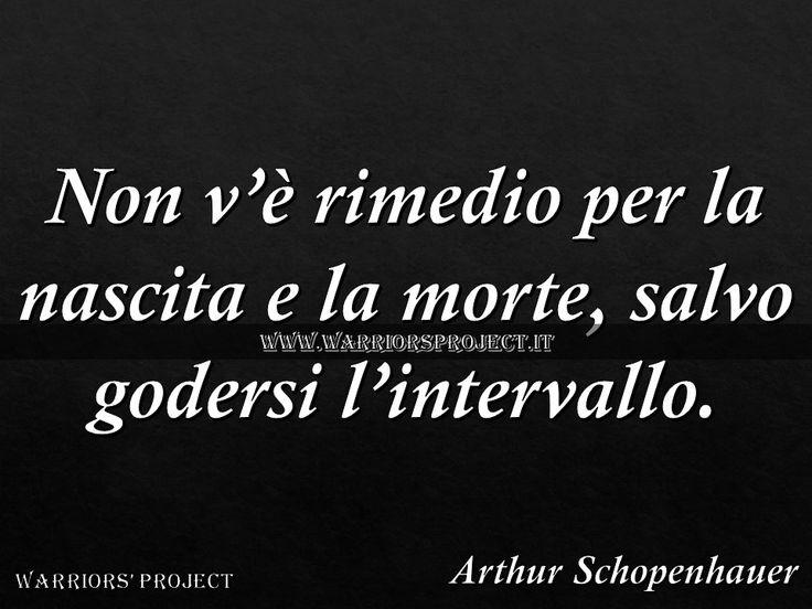 www.warriorsproject.it Arthur Schopenhauer